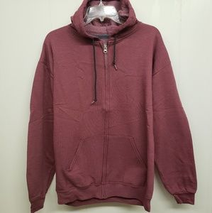 NEW! Full-Zip Hoodie, Brick Red